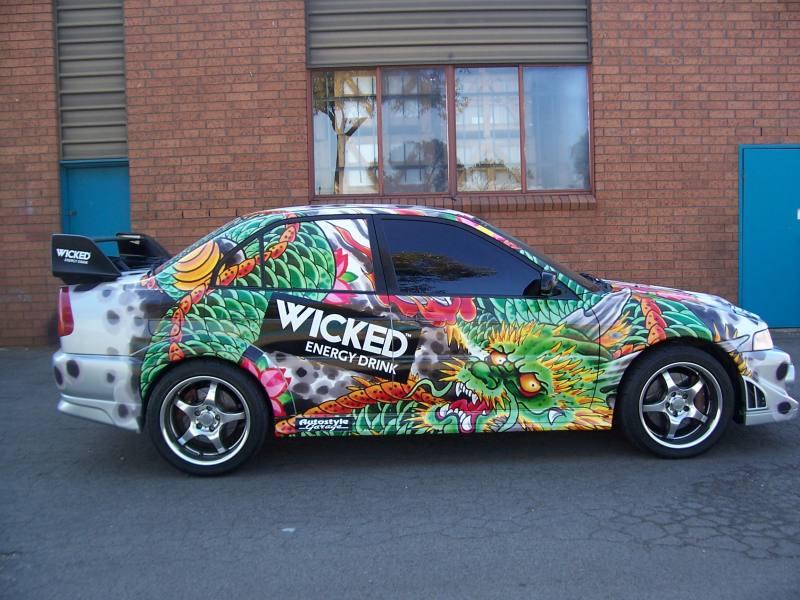 Full digitally printed car wrap